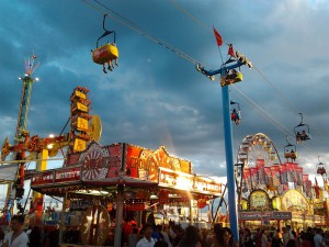 CNE midway at dusk