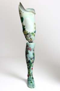 Sophie de Oliveira Barata's Floral Leg design (Alternative Limb Project )