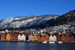 The Bryggen historic wharf